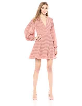 Keepsake The Label Women's Waterfall Long Sleeve Aline FIT & Flare Short Mini Dress