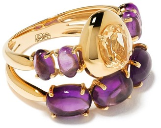 Brumani 18kt yellow gold Corcovado amethyst and citrine ring