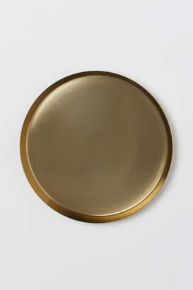 H&M Round Metal Tray - Gold