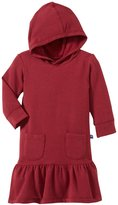 Kickee Pants Fleece Hoodie Dress (Baby) - Feather-0-3 Months