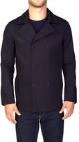 Moncler Men's Gamme Blue Double Breasted Blazer Sportscoat Jacket Navy.