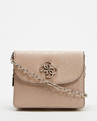 GUESS Chic Shine Mini Cross-Body Flap Bag