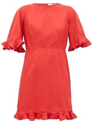 Rhode Resort Hailey Ruffled Cotton-voile Mini Dress - Womens - Red
