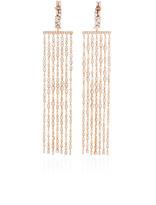 Suzanne Kalan Round Diamonds Long Chandelier Earrings