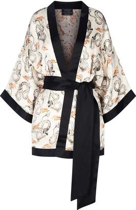 Louise Coleman Dawn Dragon Silk Kimono