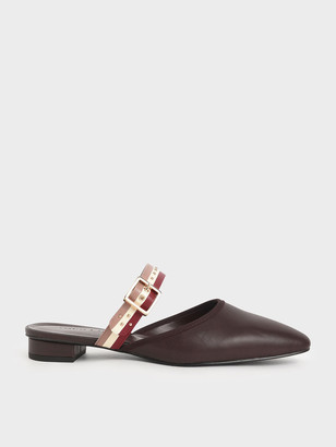 Charles & Keith Studded Round Toe Mules