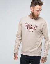Patagonia Sweatshirt With Script Logo In Regular Fit Khaki