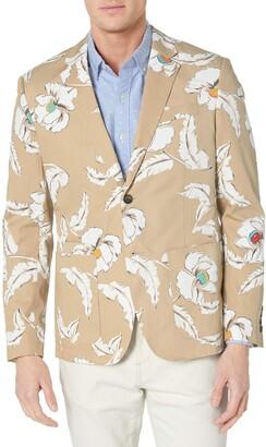 Jack Spade Men's Poppy Flower Print Sport Coat