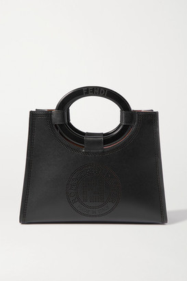 Fendi Small Perforated Leather Tote - Black