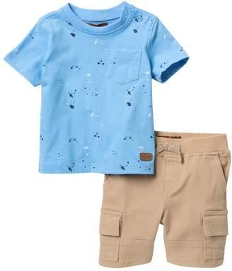 7 For All Mankind Paint Splatter Shirt & Shorts Set (Baby Boys 12-24M)