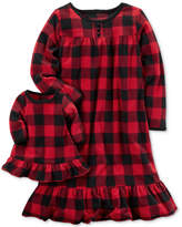 Carter's 2-Pc. Buffalo-Check Nightgown and Doll Nightgown Set, Toddler Girls (2T-5T)