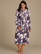 Marks and Spencer Floral Print Shimmer Dressing Gown