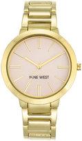 Nine West Women's Gold-Tone Bracelet Watch 36mm