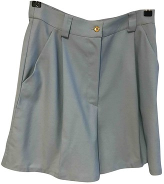 Gianni Versace Blue Wool Shorts for Women Vintage
