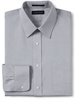 Classic Men's Tailored Fit Solid Supima No Iron Pinpoint Straight Collar-White