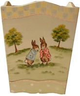 The Well Appointed House Hand Painted Enchanted Forest Wastebasket