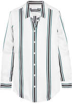 Equipment Essential Striped Silk Shirt - White