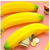 OKDEALS Silicone Portable Banana Coin Pencil Case Purse Bag Wallet Pouch Keyring