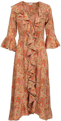 At Last... Felicity Dress- Hot Paisley