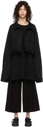 Yohji Yamamoto Regulation Black Denim R-Short Jacket