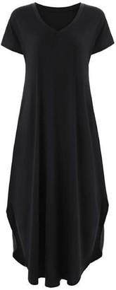 Goodnight Macaroon 'Melissa' V Neck Casual T Shirt Maxi Dress (9 Colors)