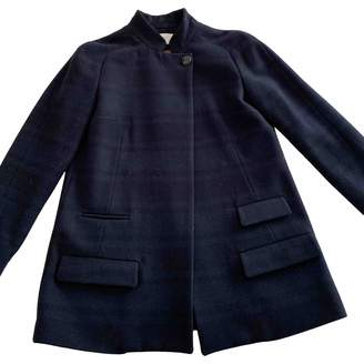 Mauro Grifoni Blue Wool Jacket for Women