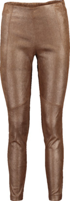 Brunello Cucinelli Metallic Leather Legging