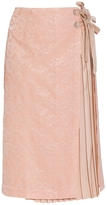 Mother of Pearl Mittie Pleated Wrap Skirt