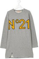 No21 Kids logo print dress