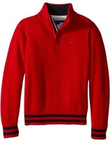 Tommy Hilfiger Robert Marled 1/2 Zip Sweater (Toddler/Little Kids)