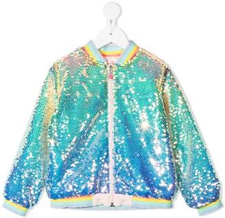 Billieblush Sequin-Embellished Bomber Jacket