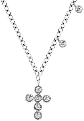 Meira T 14K White Gold & Diamond Cross Pendant Necklace