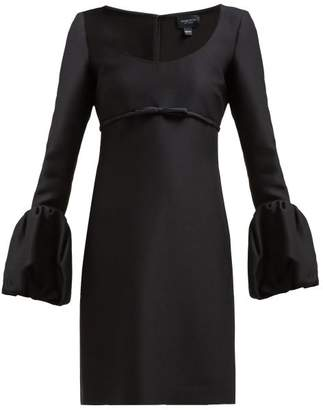 Giambattista Valli Scoop Neck Bubble Cuff Crepe Mini Dress - Womens - Black