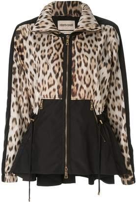 Roberto Cavalli leopard print cinched jacket