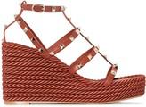 Valentino Garavani Torchon Rockstud 90mm wedge sandals