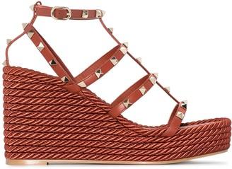 Valentino Torchon Rockstud 90mm wedge sandals