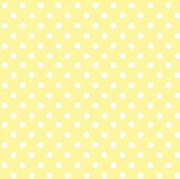 686 SheetWorld Fitted Basket Sheet - Pastel Yellow Polka Dots Woven - Made In USA - 13 inches x 27 inches (33 cm x cm)