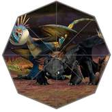 MyBetter How to Train Your Dragon Toothless Animals Custom Foldable Umbrella Fashion Portable Umbrella