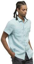 Kenneth Cole Short-Sleeve Linen Button-Front Shirt