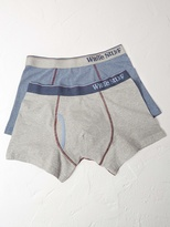 White Stuff Fine stripe double pack boxer
