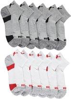 "Puma Boys' ""Reinforced Heather"" 6-Pack Quarter Crew Socks"