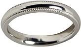 Sterling Silver Milgrain 4MM Unisex Wedding B and Ring