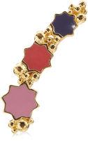 LeiVanKash Gold Multi Enamel Lelia Earrings