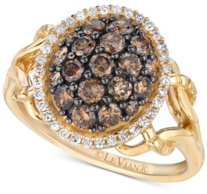 LeVian Le Vian Chocolatier Diamond Cluster Ring (1 ct. t.w.) in 14k Gold