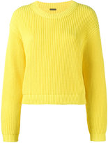 ADAM by Adam Lippes Cropped Boxy Knitted Jumper - women - Cotton - S