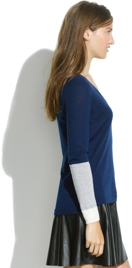Madewell First Draft Sweater in Colorblock