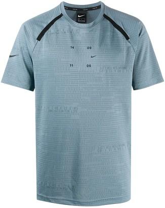 Nike letter-print sports T-shirt