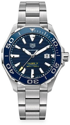 Tag Heuer Aquaracer 43MM Stainless Steel & Ceramic Automatic Bracelet Watch