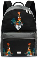 Dolce & Gabbana Rooster-print Nylon Backpack