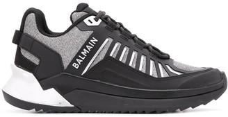 Balmain Metallic Panels Sneakers